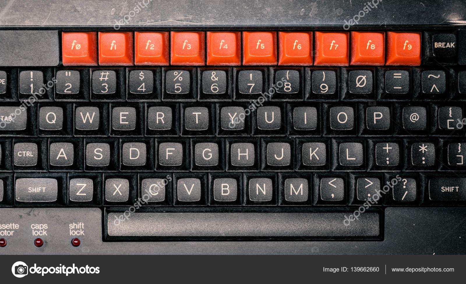 Retro vintage computer keyboard \u2014 Stock Photo © huebert
