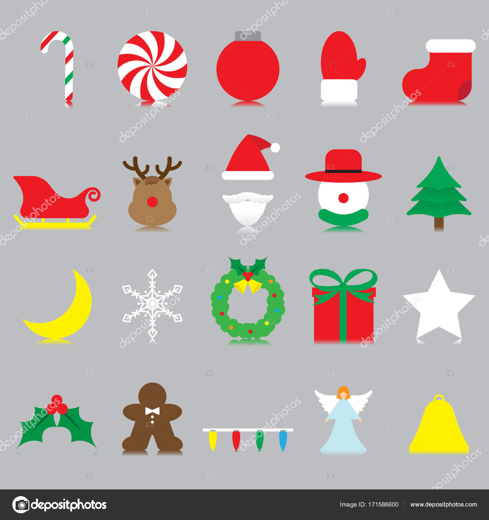 Merry Christmas - Isolated Icons — Archivo Imágenes Vectoriales ...