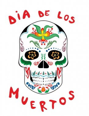 Mexican scull for day of dead