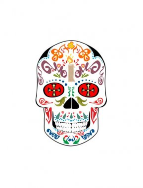 Vintage scull for day of death