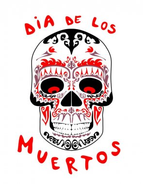 Vintage scull for day of dead