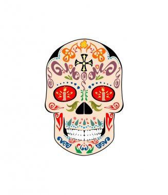 Vintage ornate skull for day of death