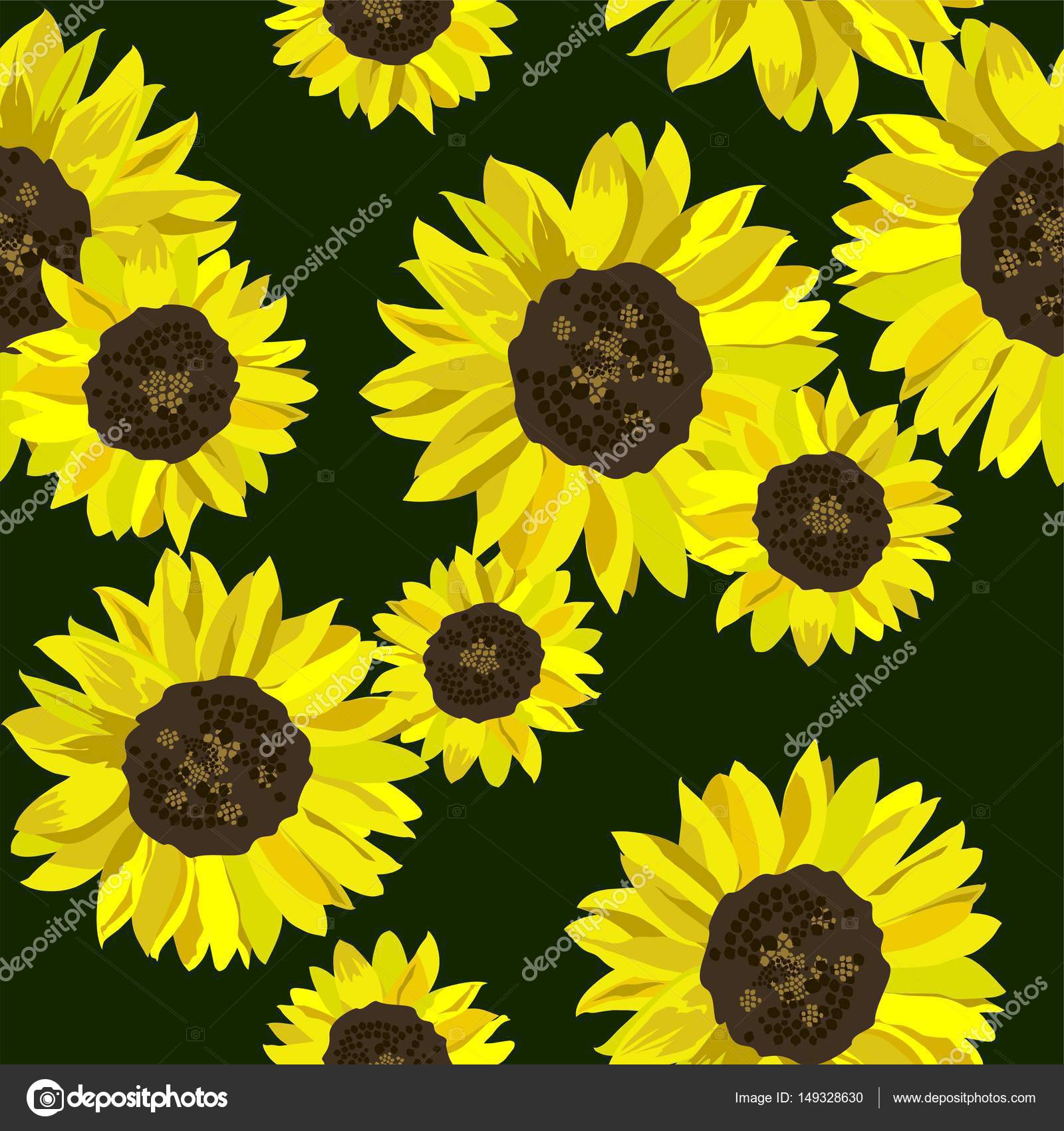 summer wallpaper with yellow sunflowers — stock vector © goldruno
