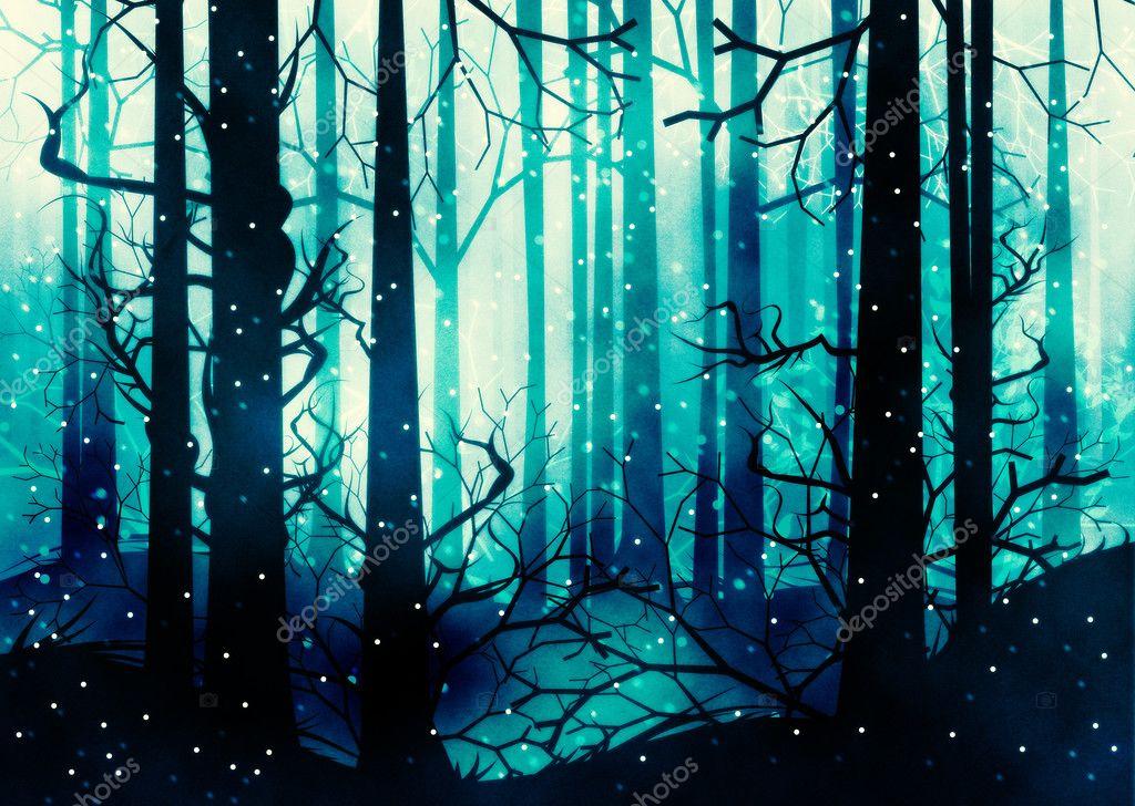 dark winter forest stock photo artshock 126469924