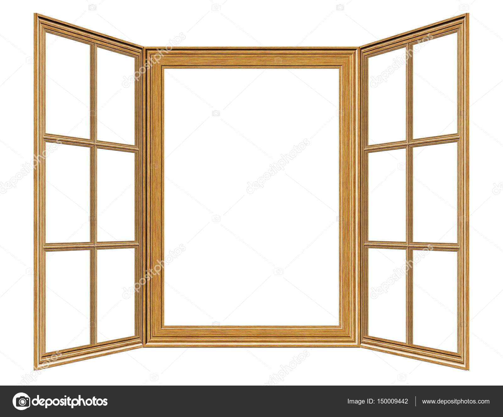 hölzerne Fensterrahmen — Stockfoto © artshock #150009442