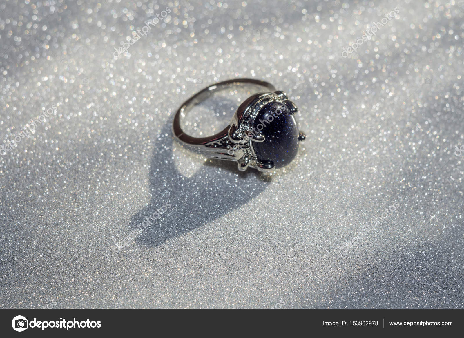 Blue Aventurine Ring — Stock Photo © artshock #153962978