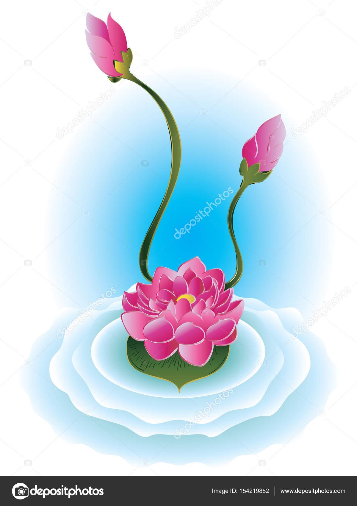 Purple Lotus Flower Stock Vector Artshock 154219852