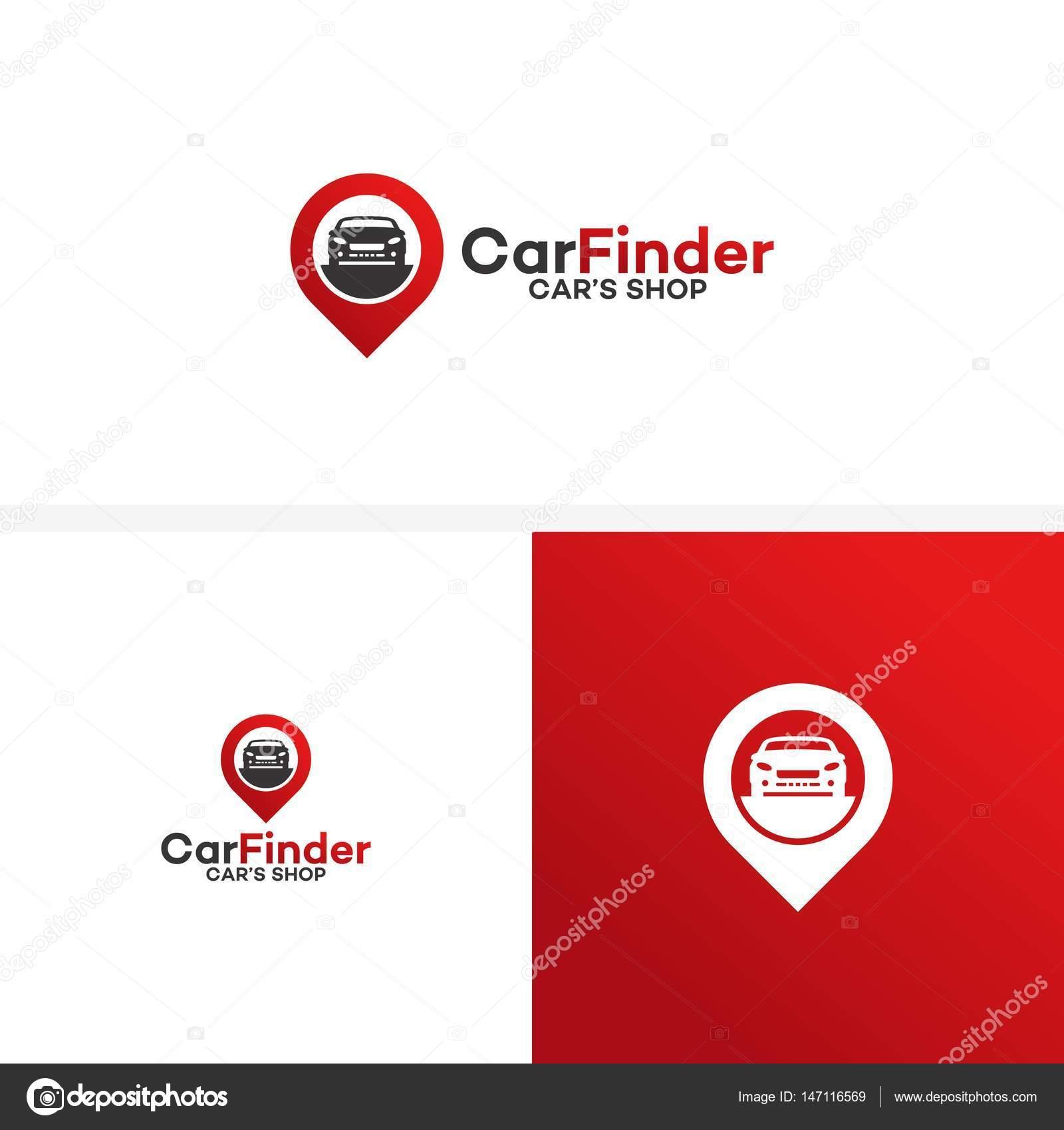 Coche tienda Logo plantilla diseño Vector, Car Finder Logo ...