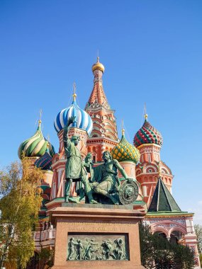 Monument to Minin and Pozharsky and Saint Basil's Cathedral