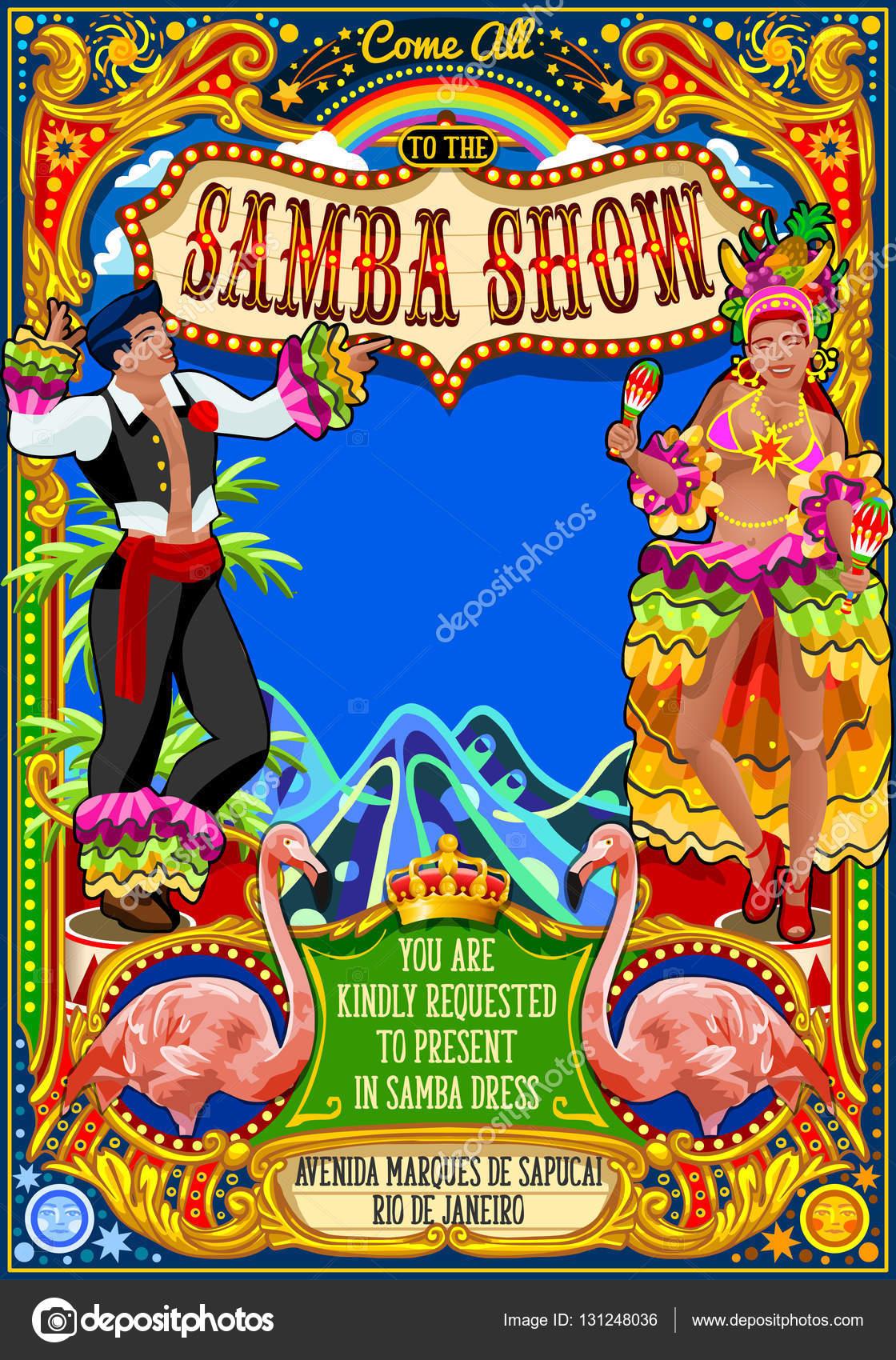karneval plakat einladung brasilien carnaval maske show parade, Einladungen