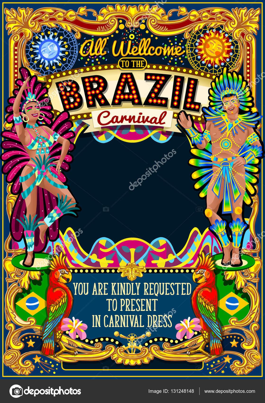 リオ カーニバル ポスター テーマ ブラジル カーニバル マスク ショー