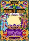 mardi gras karneval poster frame karneval maske show parade