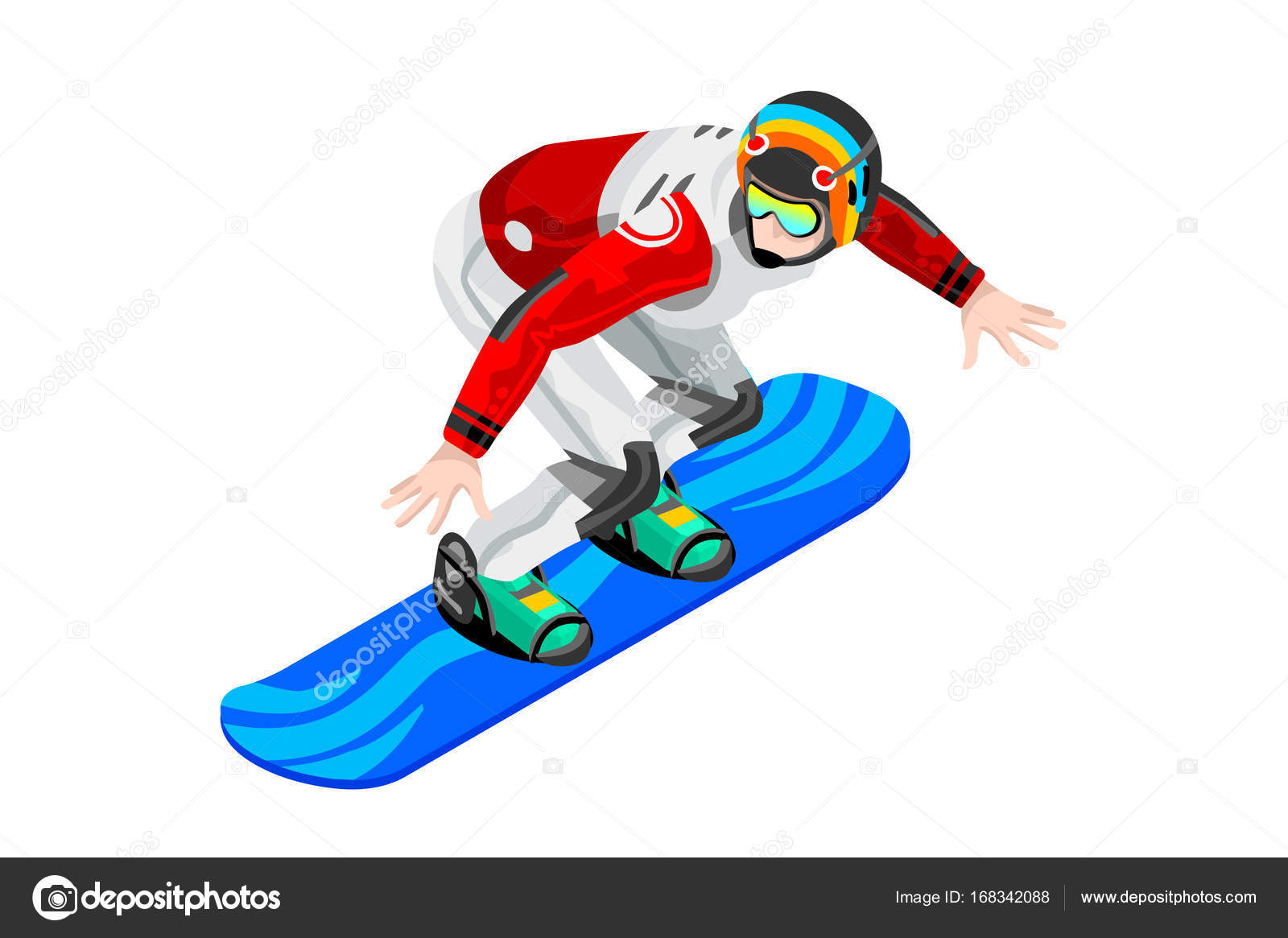 Snowboarding Clipart