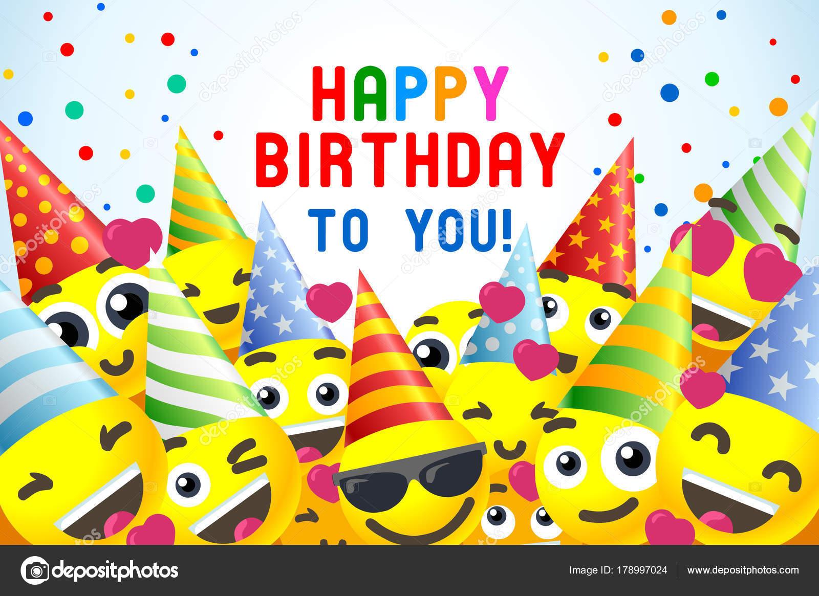 Alles Gute Zum Geburtstag Hintergrund 3d Banner Fur Kinder Party Vektor Von