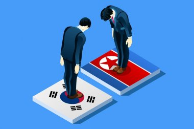 South and North Korea Peace Vector