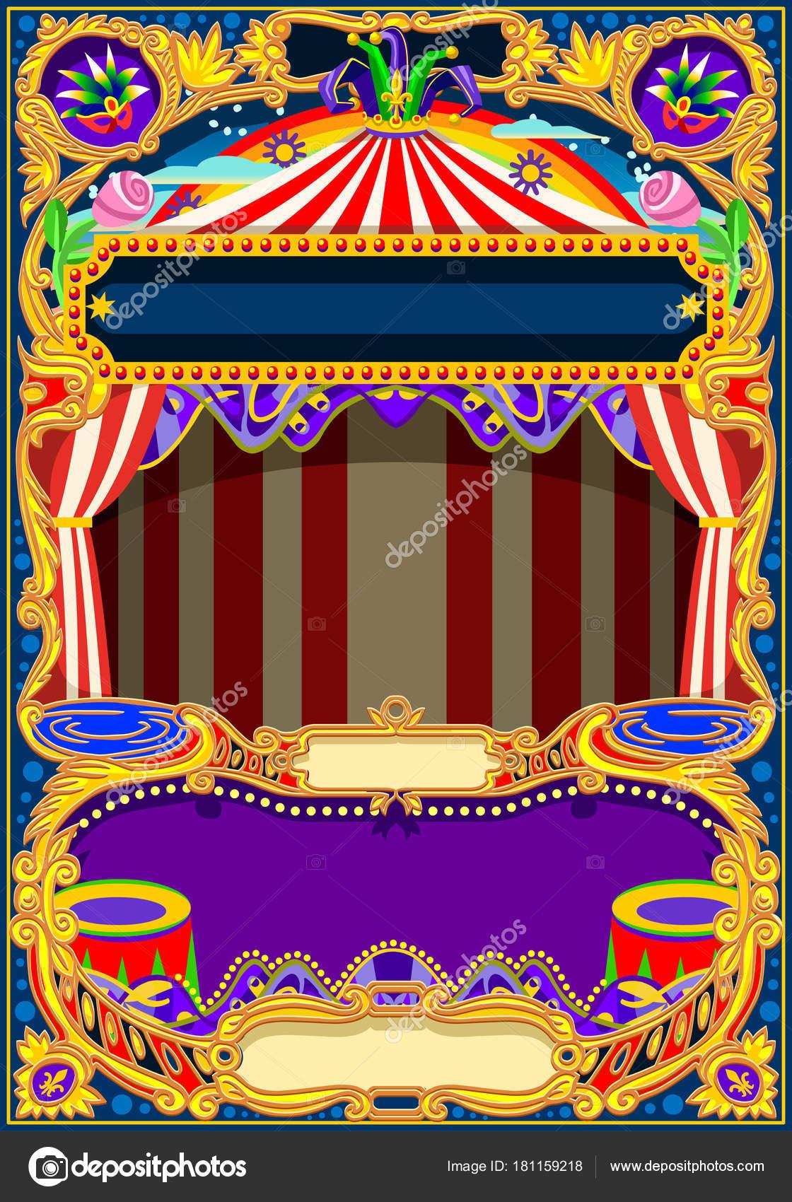 Circus-Wallpaper Vektor Rahmen — Stockvektor © aurielaki #181159218