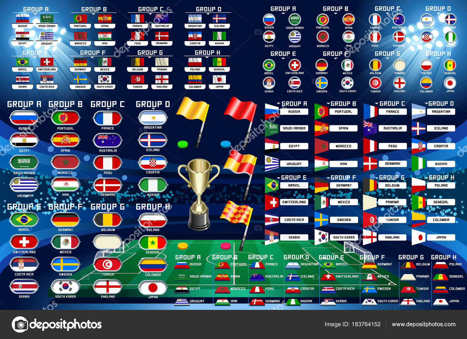 Calendario Mundial Futbol.Calendario De Campeonato Mundial Futbol Vector De Stock