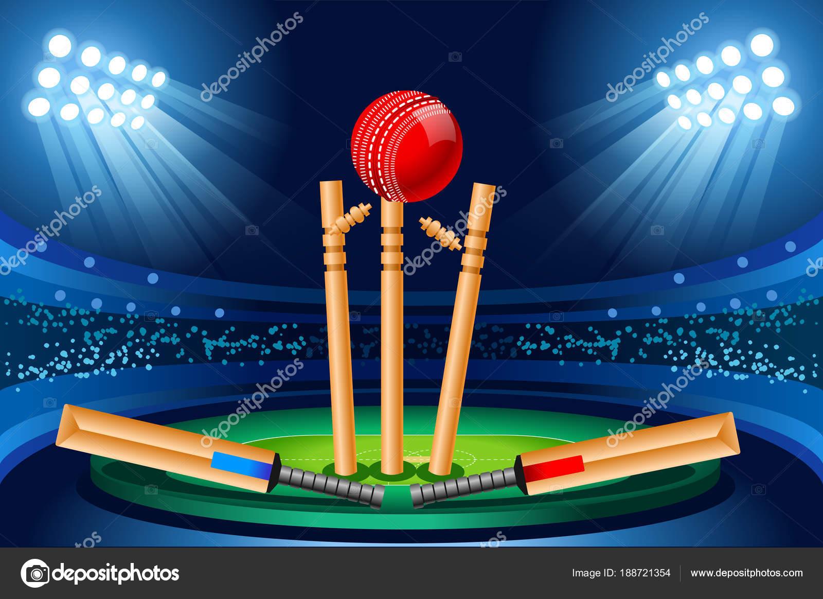 Cricket Stadium Vector Wallpaper Stock Vector Aurielaki 188721354
