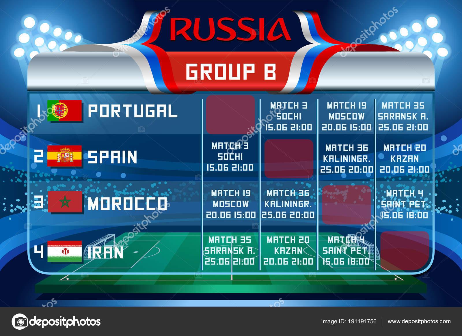Fond D Ecran Du Vecteur De Russie World Cup Groupe B Image