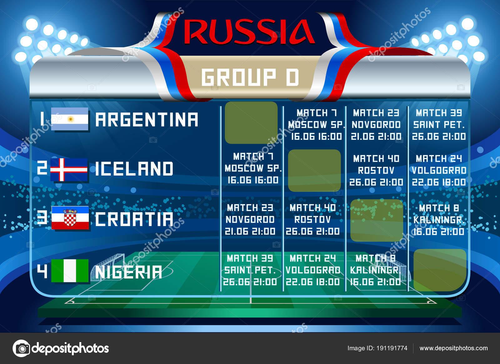 Russie Coupe Du Monde Groupe D Vector Wallpaper Image