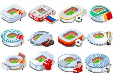 Russian stadium world cup icons