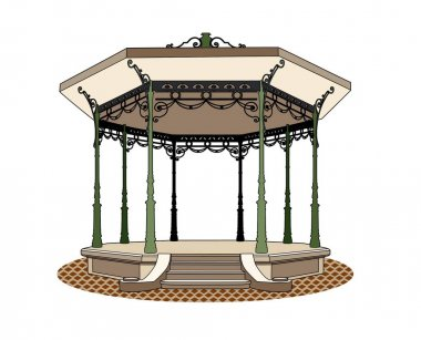 Vector of a bandstand_romantic