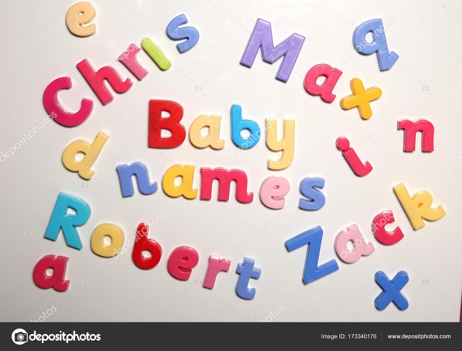 Baby-Namen mit Buchstaben Dinkel — Stockfoto © chrisbrignell #173340176