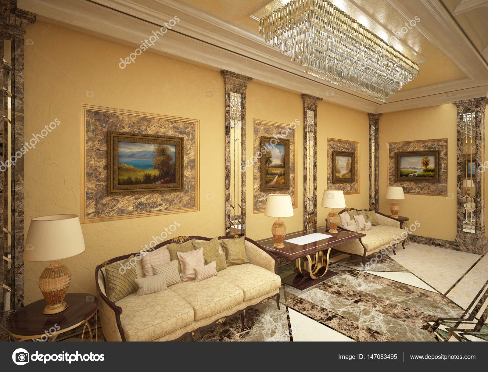 Decoratie Interieur Corridor : Luxe honing corridor u stockfoto koslev