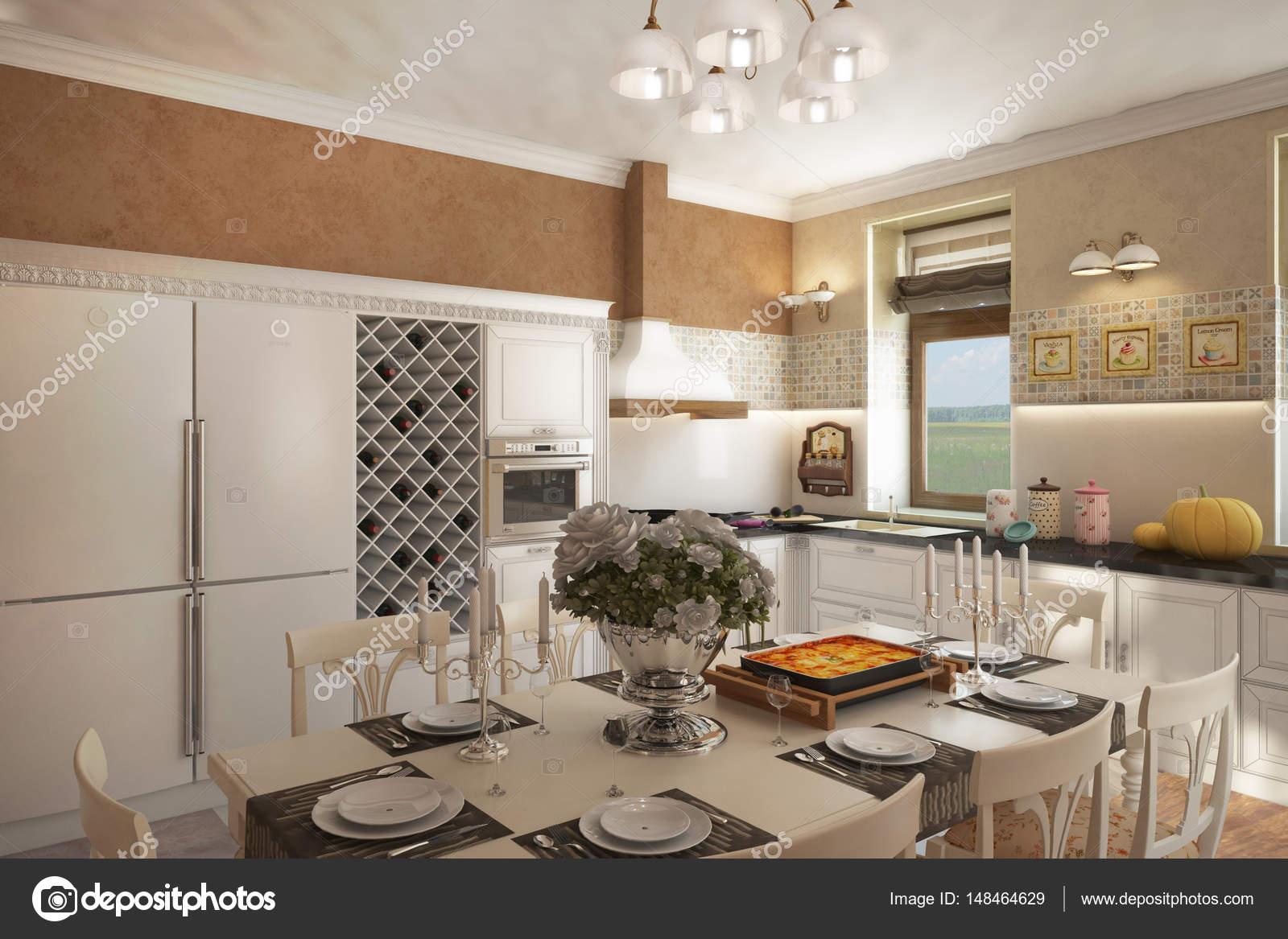 País Casa Provenza cocina chimenea lounge_angle02 — Fotos de Stock ...