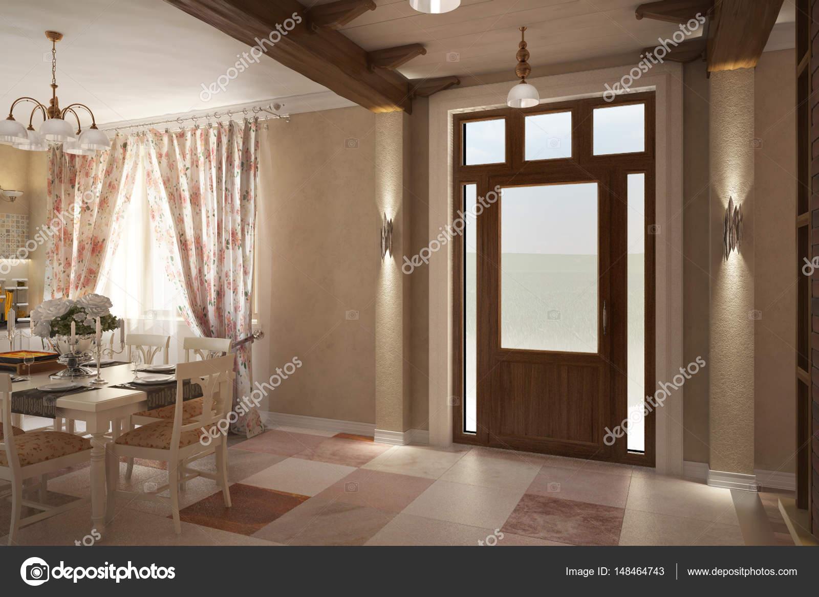 Land Haus Provence Küche Kamin lounge_angle010 — Stockfoto © koslev ...