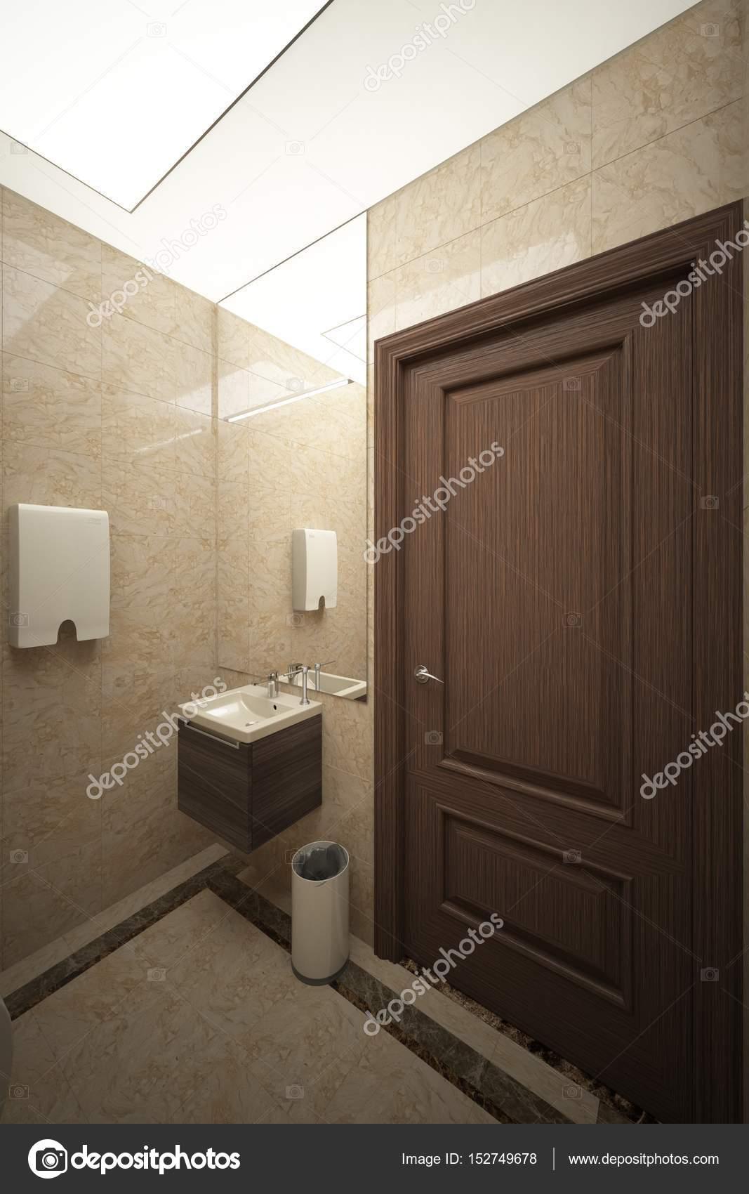 Interior of public building toilet (render) angle_002 — Stock Photo ...