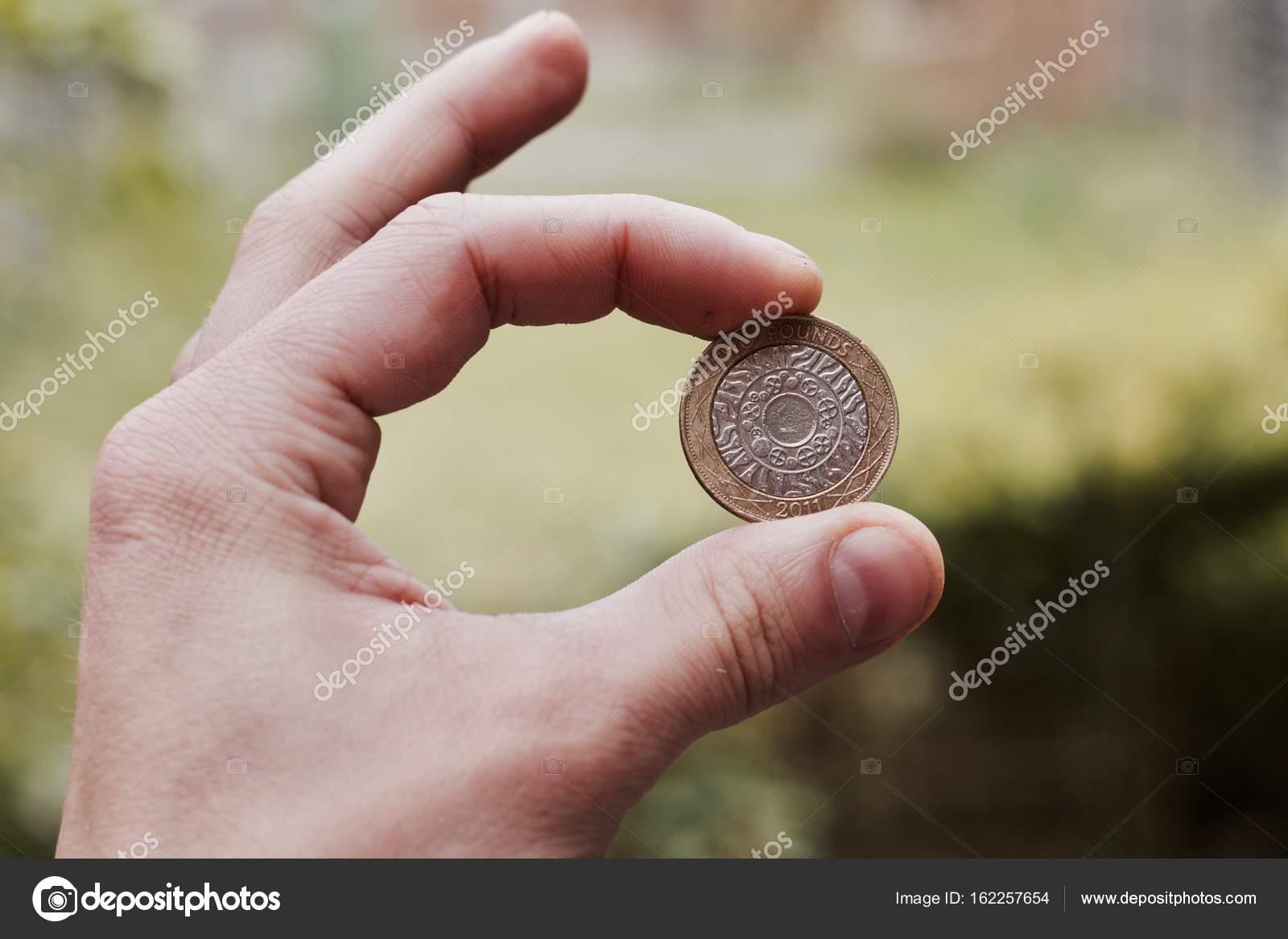 Zwei Pfund Münze Stockfoto Adriantoday 162257654