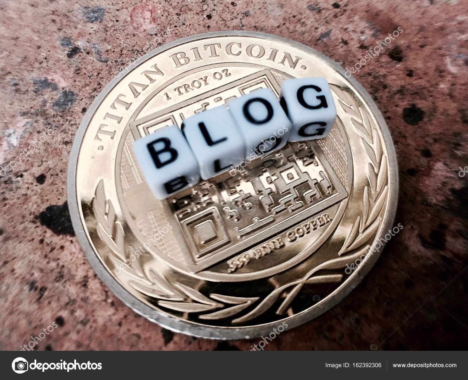 Bitcoin blog inscription – Stock Editorial Photo
