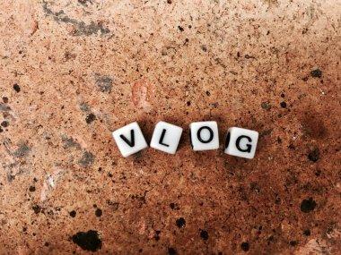 Vlog white letters