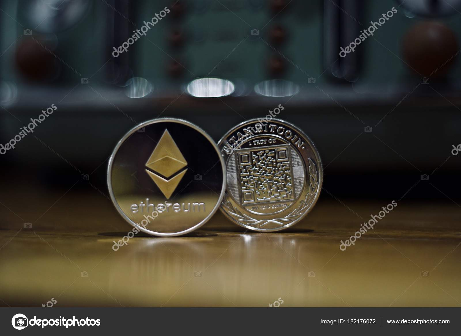 Ethereum physical coin — Stock Photo © adriantoday #182176072