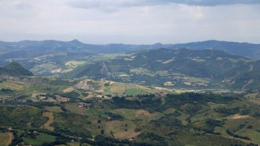 panorama of the Italian Apennines and the valleys of Emilia Roma
