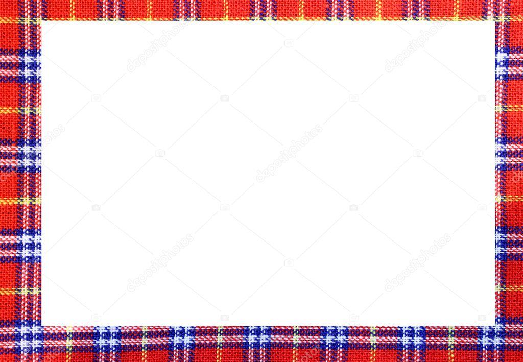 Marco de tartán con espacio para escribir tu texto — Fotos de Stock ...