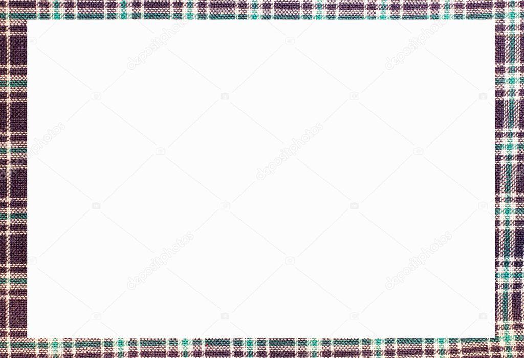 Marco de tartán con espacio para escribir tu texto — Foto de stock ...