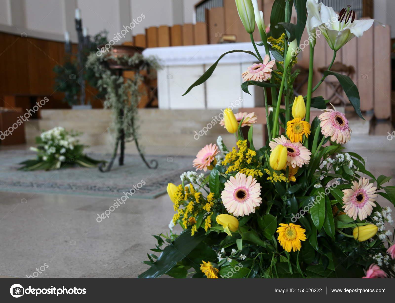 Gerbera Blumen Und Calla Lilien Bei Der Taufe Feier