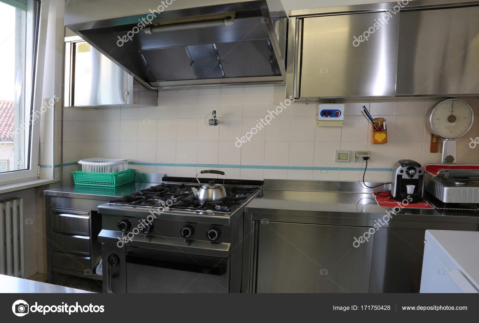 Cozinha Com Panelas De A O Inoxid Vel Stock Photo Chiccododifc