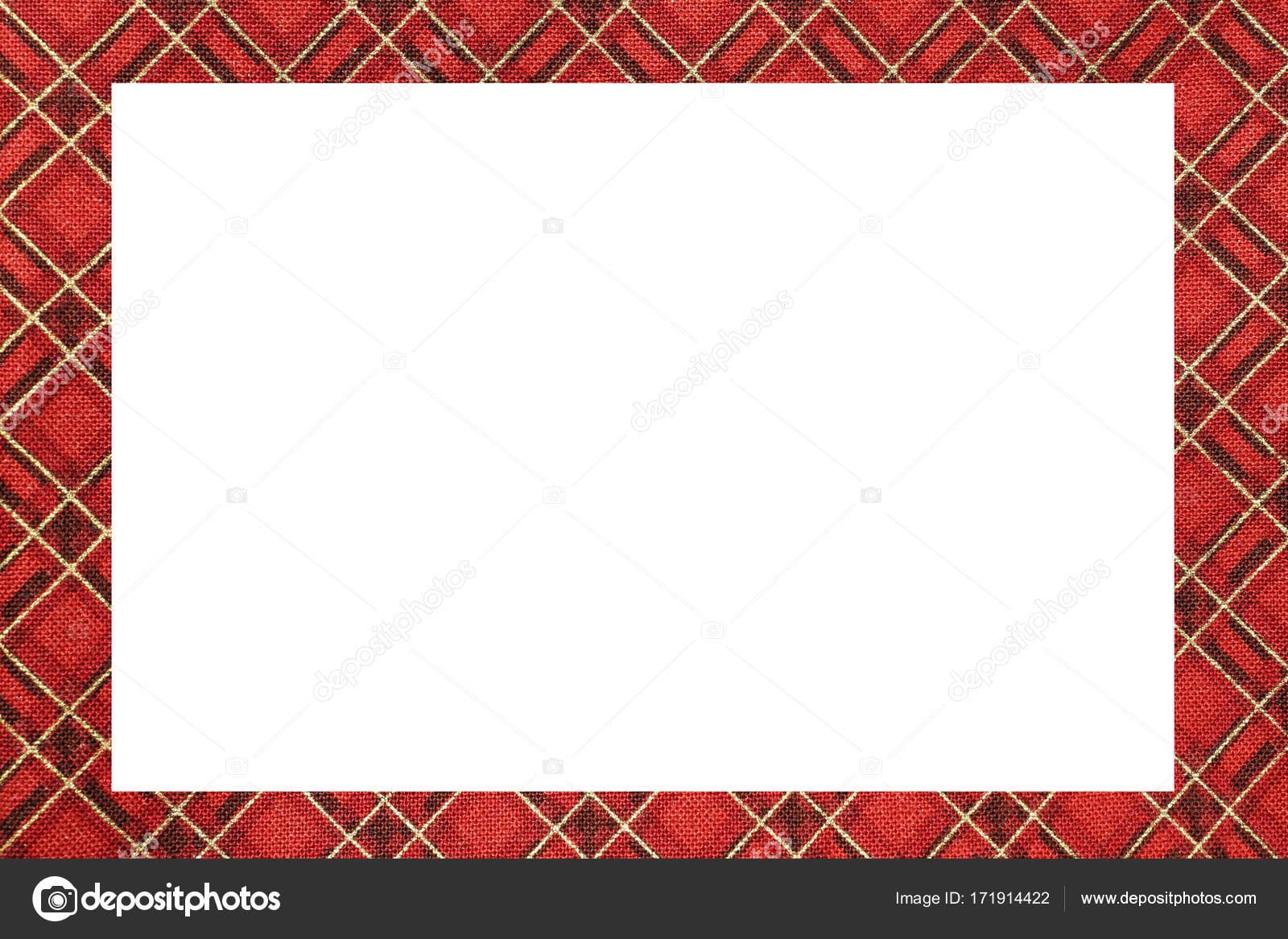 marco rojo Tartan tipo escocés con un espacio en blanco para ...