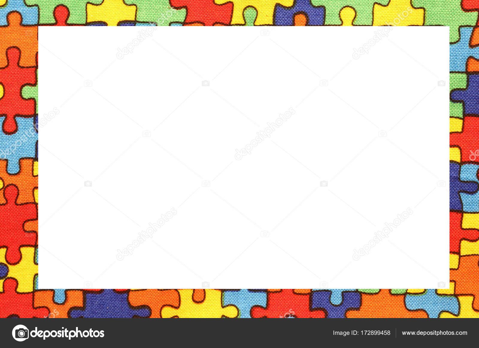 cuadro de piezas de rompecabezas de colores sobre tela de algodón ...