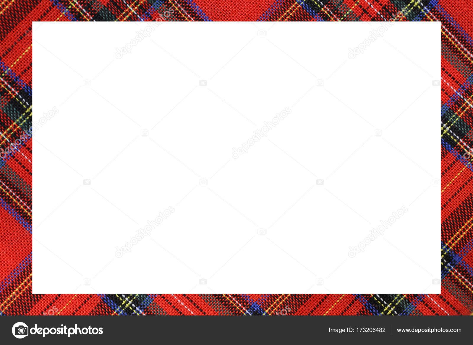 Marco tartán escocés con un espacio en blanco para escribir un ...