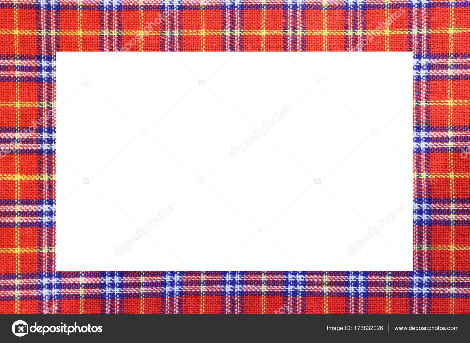 Tartan type Scottish frame with a white space to write a message ...