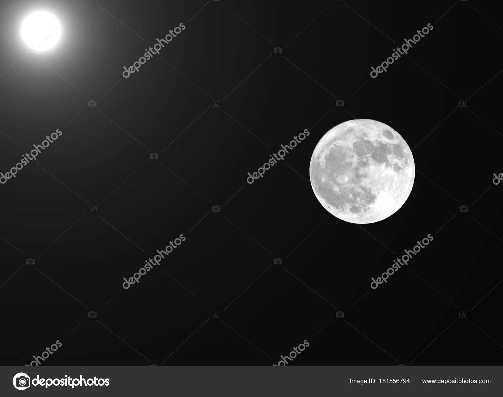 Full Moon And The Sun In The Same Frame Stock Photo Chiccododifc