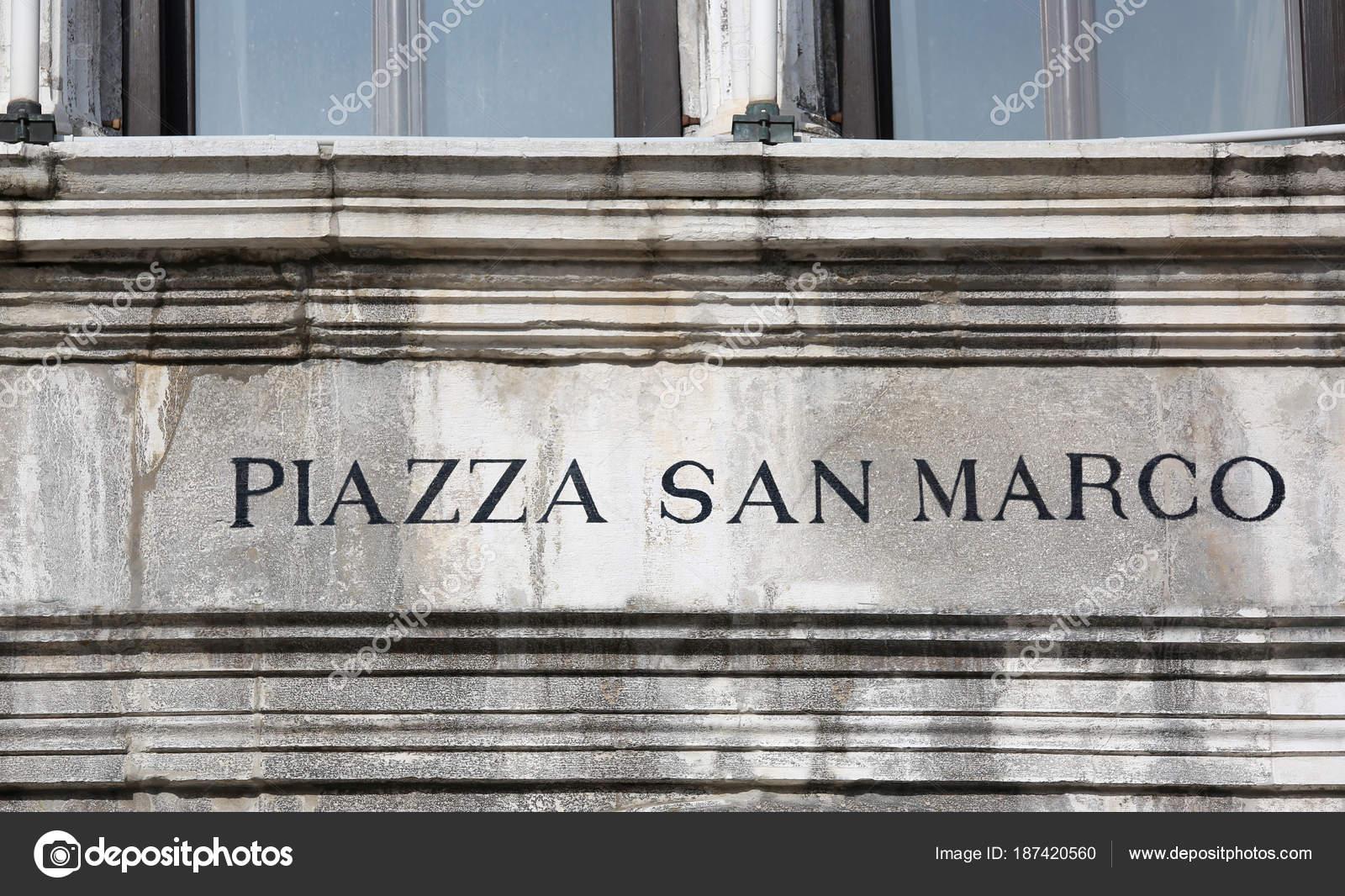 firmar en Piazza San Marco de Venecia que significa Plaza de San ...