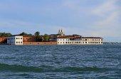 Fotografie Venice Italy Buildings of the Benedictines in San Servolo Island