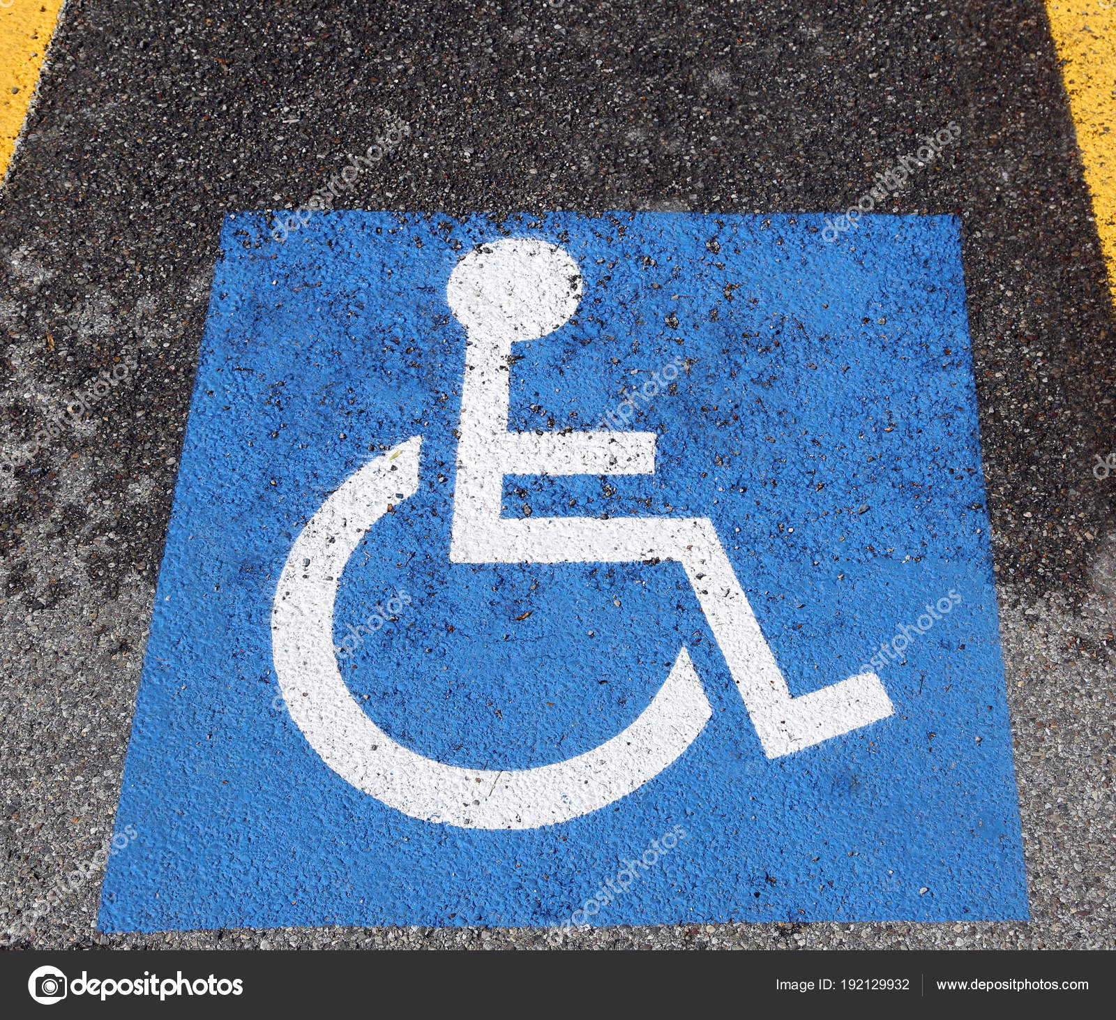 Wheelchair Symbol In The Car Parkingle Stock Photo Chiccododifc