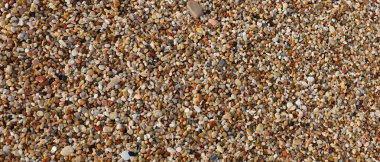 many very small pebbles and stones