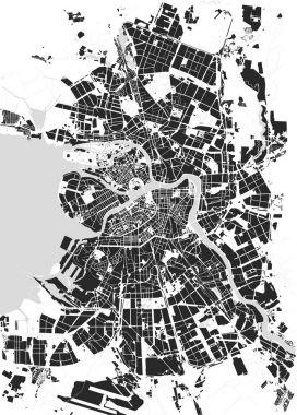 Vector map Saint Petersburg black and white clip art vector